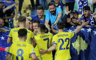 Slavlje fudbalera Kosova