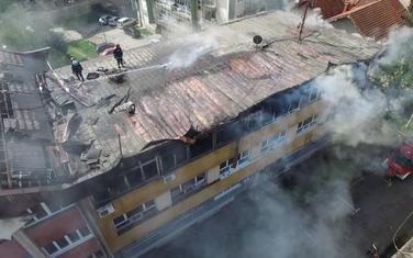 Vatromet ispaljen sa krova zgrade