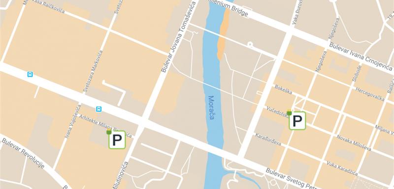Slovom P su označena mjesta gdje će biti punjači postavljeni