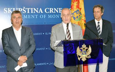 DF pres, Predrag Bulatović, Milutin Đukanović i Koča Pavlović