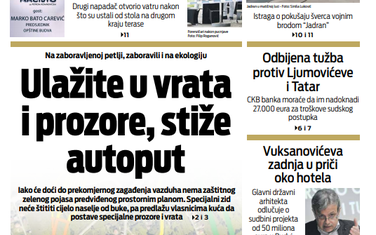 """Naslovna strana """"Vijesti"""" za 13. jun"""