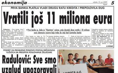 Vijesti, 13. jun 2009.