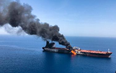 Zapaljeni tanker