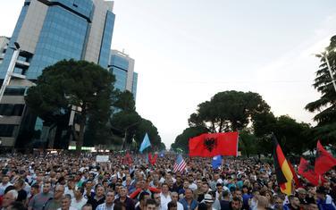 Sa protesta pristalica albanske opozicije u Tirani