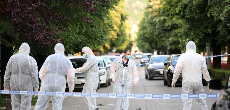 Forenzičari na mjestu na kojem je ubijen Milić