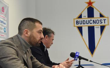 Sportski direktor Budućnosti Risto Lakić i trener Branko Brnović