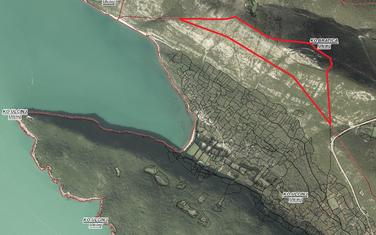 Lokacija iznad Valdanosa koju Opština ustupa Vladi