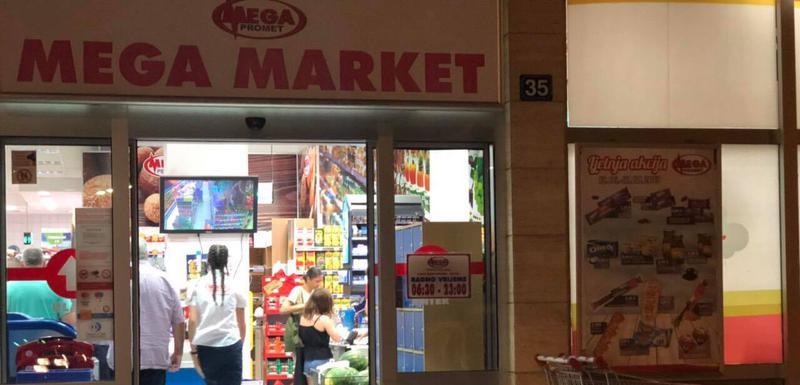Market u kojem je došlo do pljačke