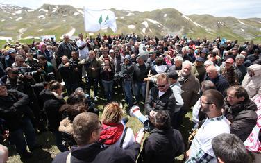 Protest na Sinjajevini