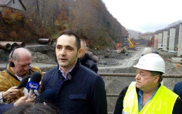 Radulović u obilasku gradilišta autoputa