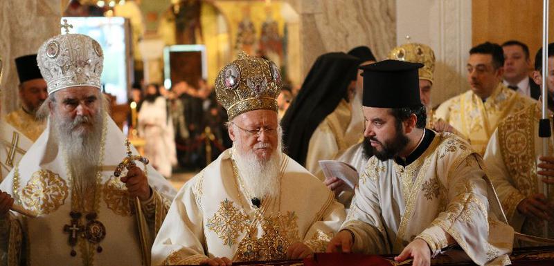 Mitropolit Amfilohije i patrijarh Vartolomej