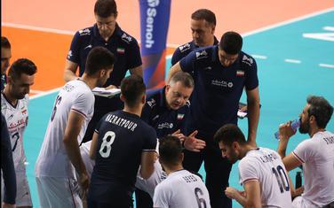 Igor Kolaković sa igračima Irana