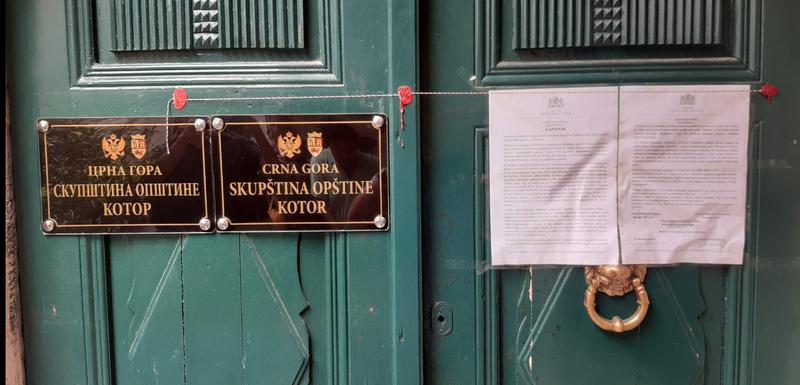 Prostorije SO Kotor zapečaćene su 24. juna