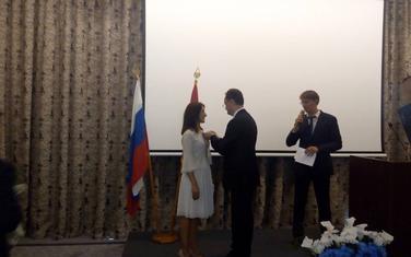 Na uručenju nagrade: Ljiljana Ćorac Ražnatović
