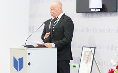 Petar Kapisoda na komemoraciji Nebojši Vujisiću