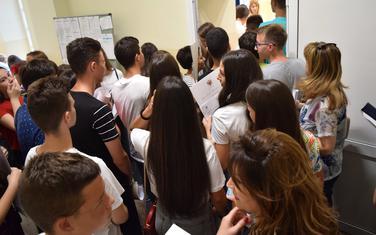 Sa upisa u jednoj od škola u Podgorici