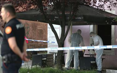 Uviđaj nakon ubistva Milića
