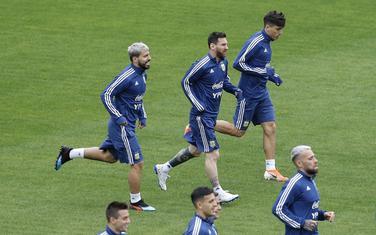 Argentinci na treningu u Sao Paulu uoči večerašnjeg meča za 3. mjesto