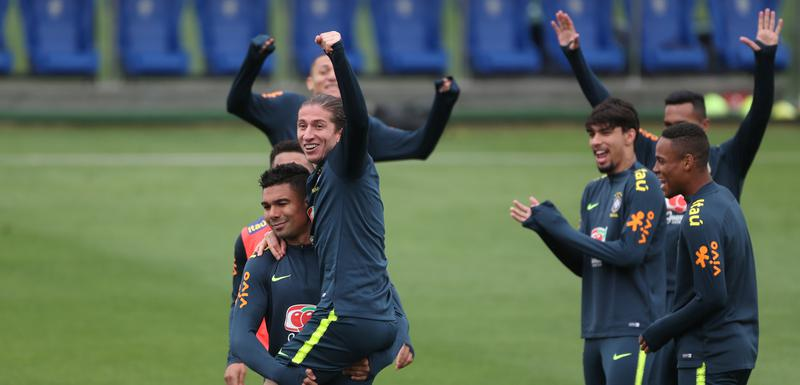 Dobra atmosfera pred finale: Brazilci na treningu
