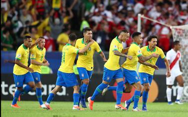Slavlje fudbalera Brazila