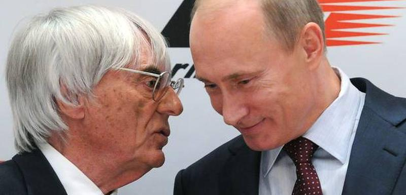 Berni Eklston i Vladimir Putin