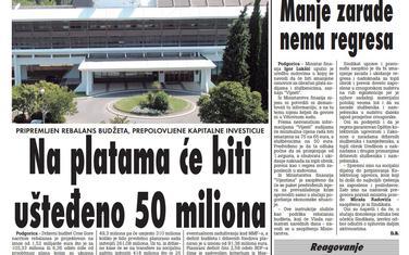 Vijesti, 9. jul 2009.
