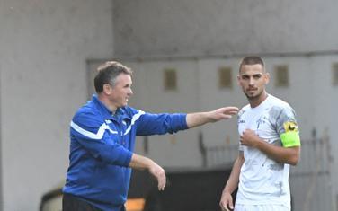 Trener Budućnosti Branko Brnović i kapiten Stefan Milić