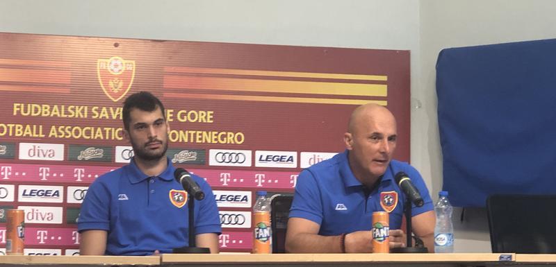 Dejan Roganović i Goran Milojko na pres konferenciji