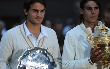 Federer i Nadal nakon finala 2008.