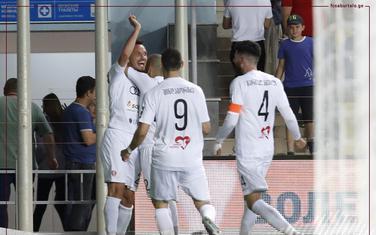 Ognjen Rolović slavi gol u Tiraspolju
