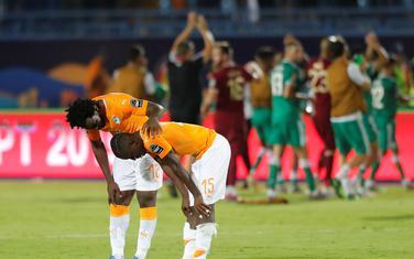 Slavlje fudbalera Alžira i tuga igrača Obale Slonovače