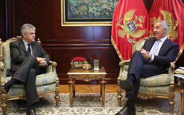 Milo Đukanović i Sergej N. Gricaj, ambasador Ruske Federacije u Crnoj Gori, 8. jul 2019.