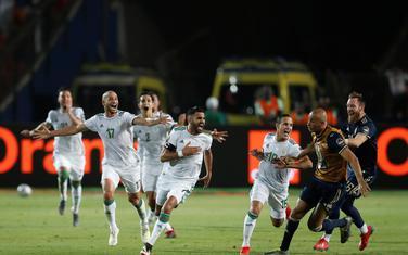 Slavlje fudbalera Alžira
