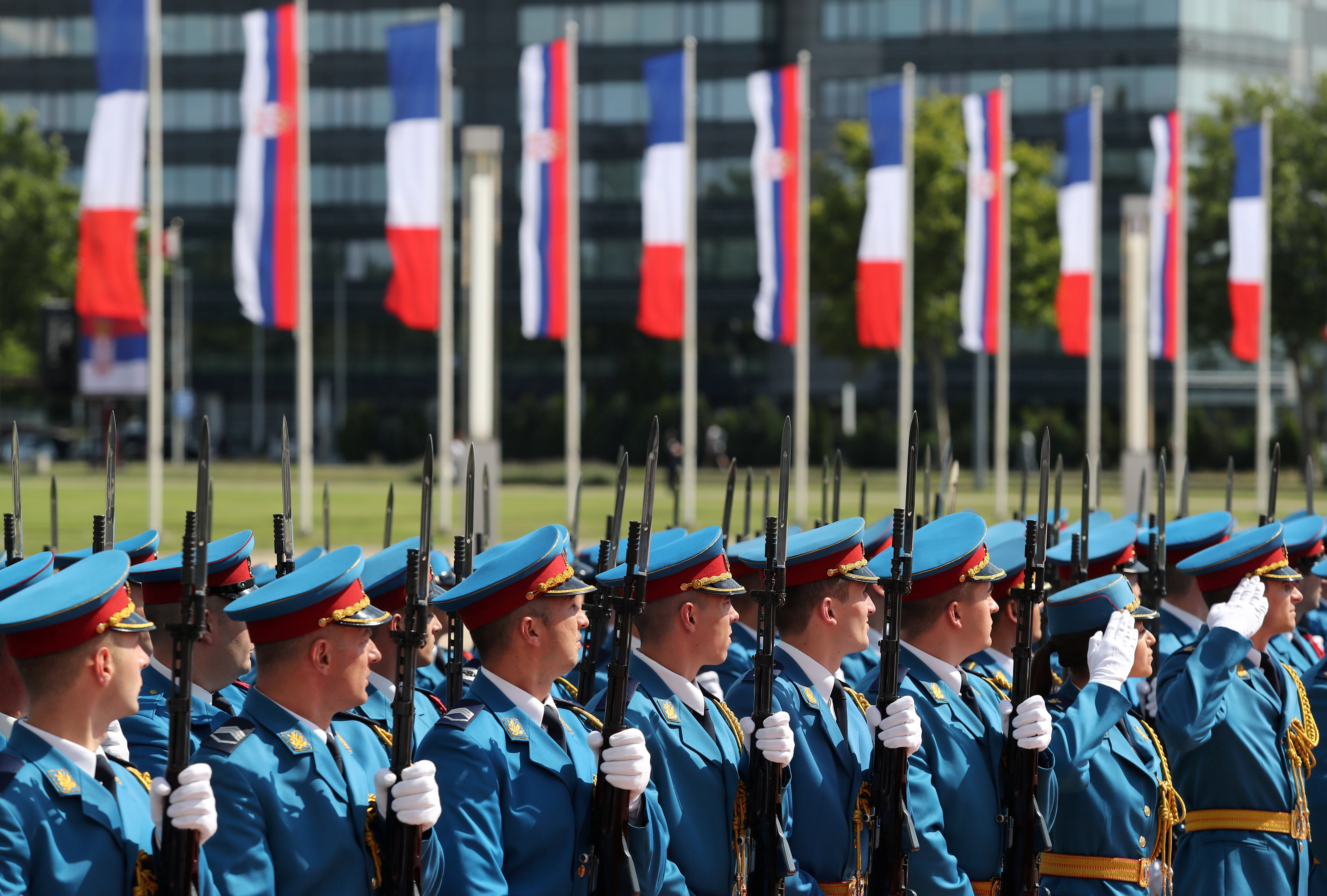 Svečani doček u Beogradu (foto: Reuters)