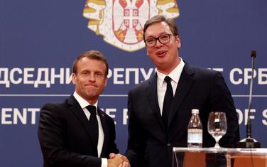 Makron i Vučić na pres konfreneciji nakon sastanka