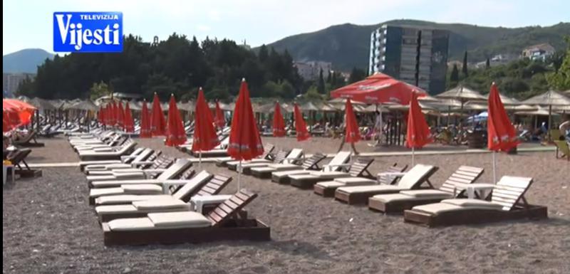 Jedna od budvanskih plaža