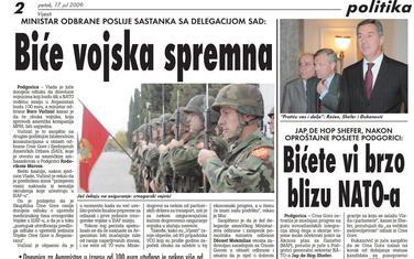 Vijesti, 17. jul 2009.