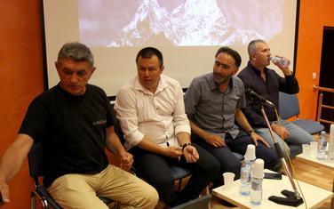 Himalajci na promociji knjige: Božić, Vujović, Radović, Bulatović