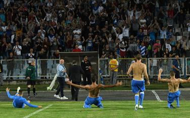 Slavlje nakon pobjede nad Slovanom