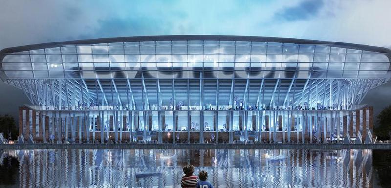 Prikaz novog stadiona Evertona