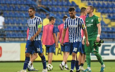 Fudbaleri Budućnosti nakon utakmice