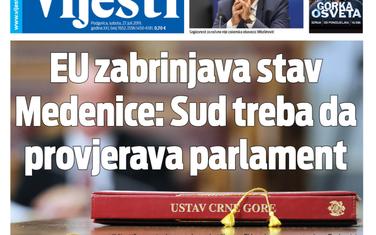 """Naslovna strana """"Vijesti"""" za 27. jul"""