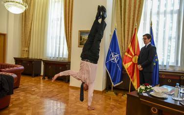 Dan Orjan u kabinetu makedonskog predsjednika