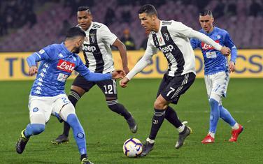 Kristijano Ronaldo na meču Napoli - Juve prošle sezone