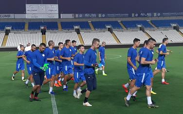 Fudbaleri Sutjeske juče na treningu u Nikoziji