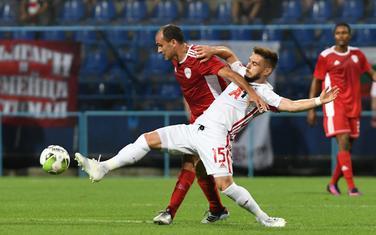 Mirko Raičević (OFK Titograd) na meču protiv CSKA iz Sofije