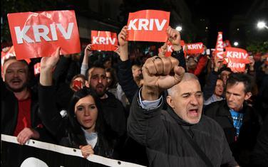 Sa jednog od građanskih protesta u Podgorici