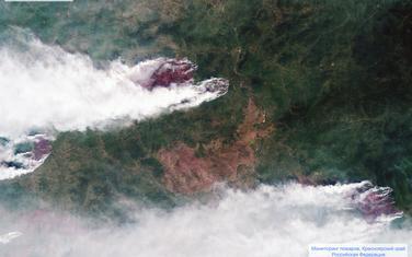 Satelitski snimak požara