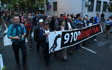 """Sa jednog od protesta pokreta """"Odupri se - 97000"""""""