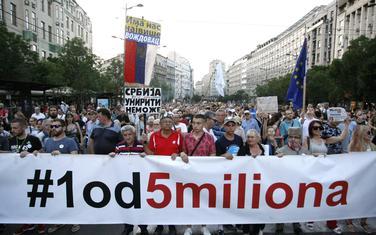 Sa jednog od prethodnih protesta Jedan od pet miliona